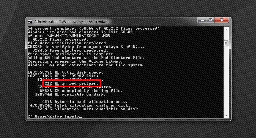 Selvom jeg kører med harddisk-overvågningssoftware, kom fejlen helt uanmeldt. Fejlen er ikke kritisk men er en indikation på, at jeg snart skal udskifte enheden.