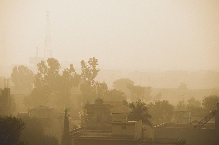19. jan: Dejlig udsigt på en kølig morgen, fra toppen af vores hjem.